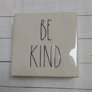 Rae Dunn Be Kind Stay Humble Paperweight Desk Sign